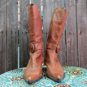 Shoes - Stylish Cowboy Boots with Buckle